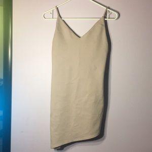 lilac slant bottom dress